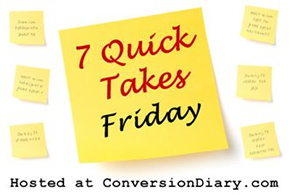Seven Quick Takes and a Saintly Giveaway |Everyday Snapshots