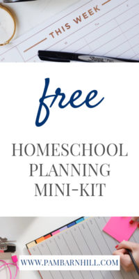 FREE Homeschool Planning Mini-Kit Pam Barnhill Homeschool Solutions