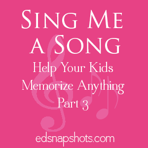 Songs for Memory Work | Sing Me a Song