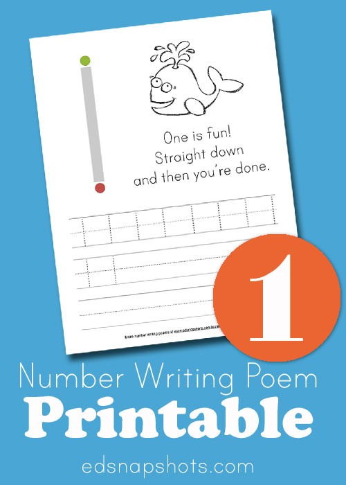 Learn how to write number one 1 Pam Barnhill Homeschool Solutions