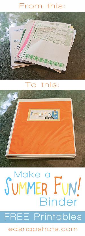 Summer Fun Binder | Everyday Snapshots