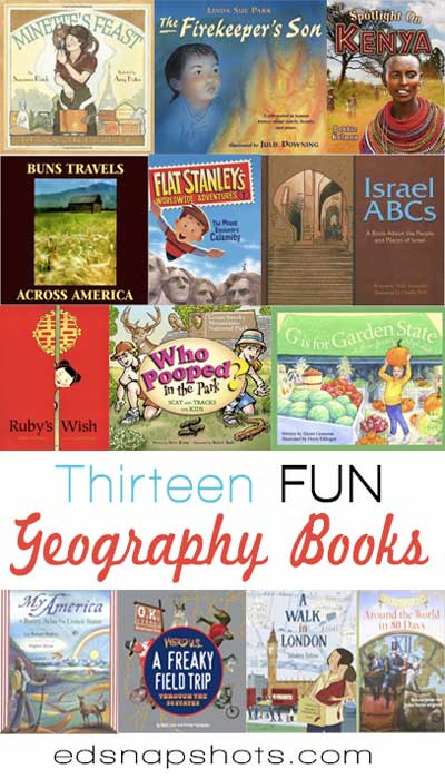 Thirteen FUN Geography Books for Kids