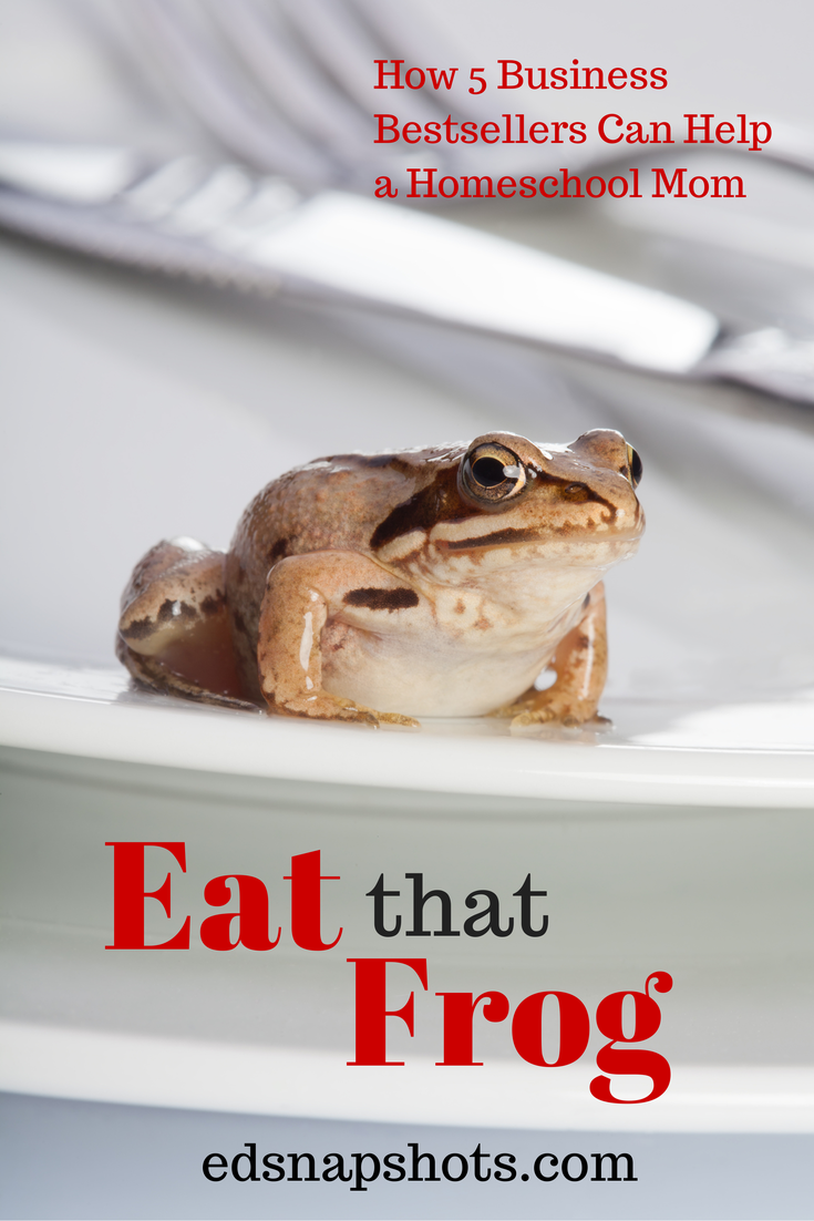 Eat That Frog: How Five Business Bestsellers Can Help a Homeschool Mom