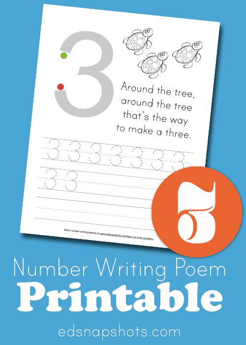Learn to Write Numbers: Three image