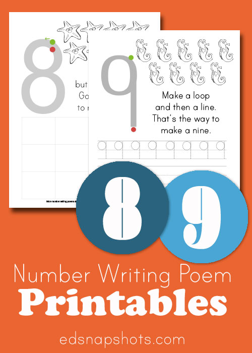 Eight and Nine Learn to Write Numbers