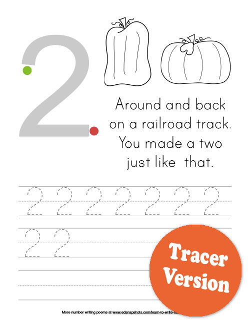 Learn to Write Numbers Fall Theme Two