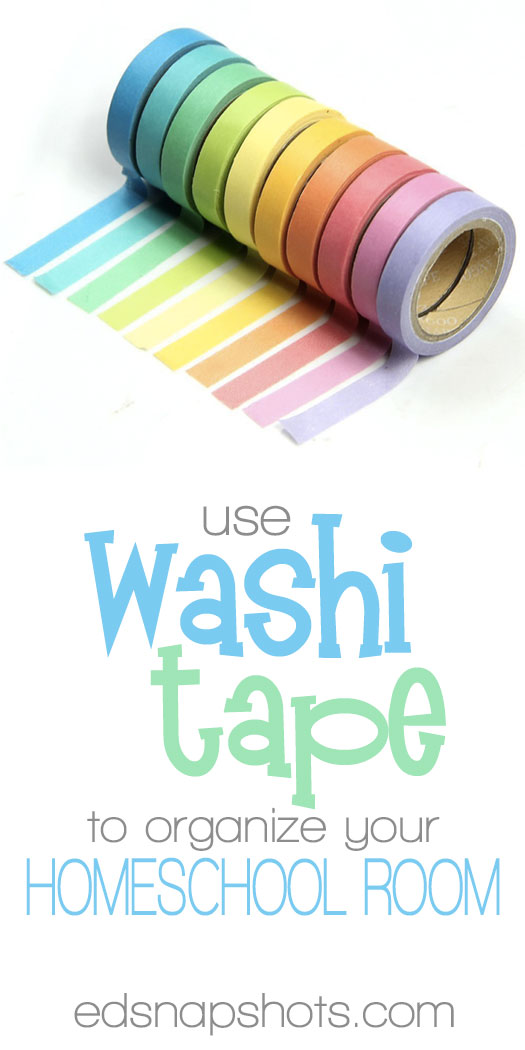 Organize Your Homeschool Room with Washi Tape
