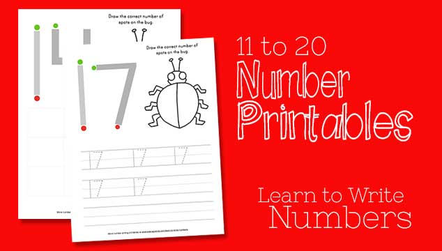Learn to Write Numbers 11-20