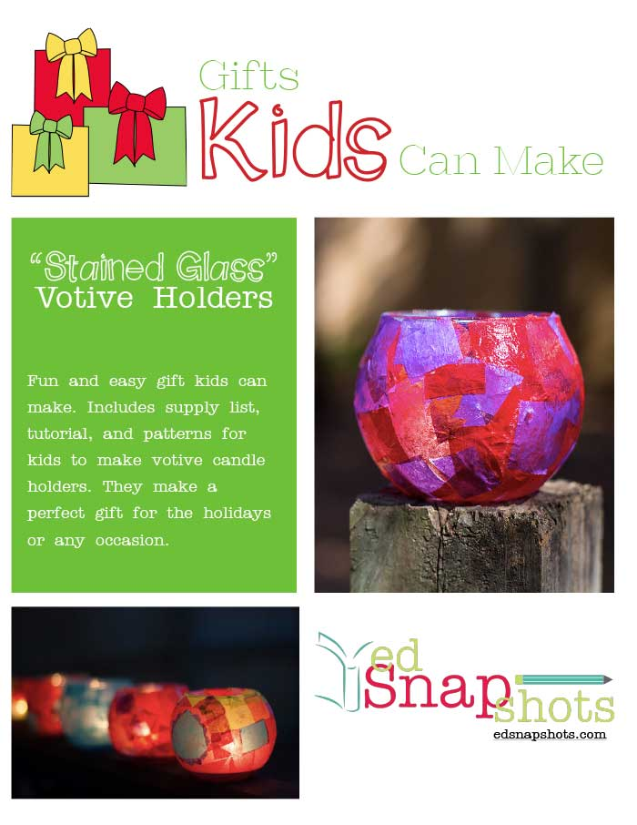 Colorful Votive Holder Tutorial