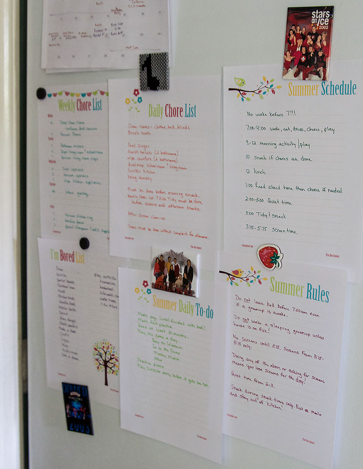 Get Organized for Summer with Kids Lists