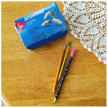 Homeschool Spring Cleaning Day 3: Arrowhead Pencil Erasers