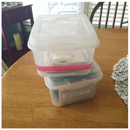 Homeschool Spring Cleaning Sterilite Containers