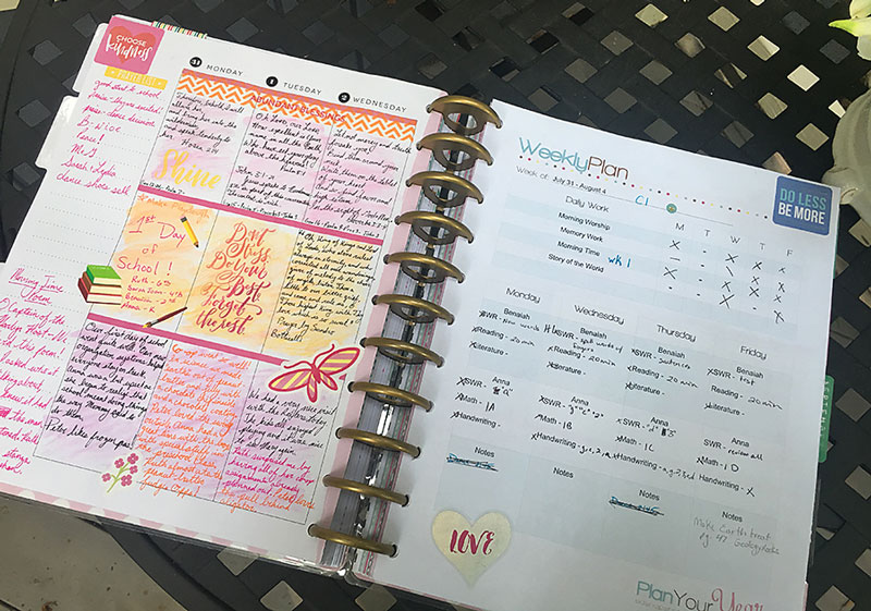 How to Use Your Happy Planner to Organize Your Homeschool