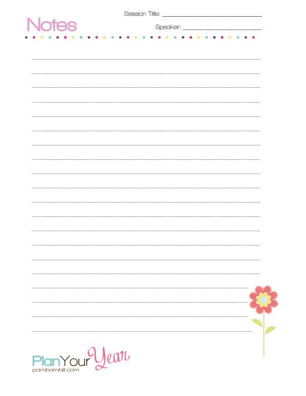 How to get the most out of your homeschool convention notes page