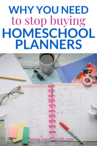 stop buying homeschool planner pin